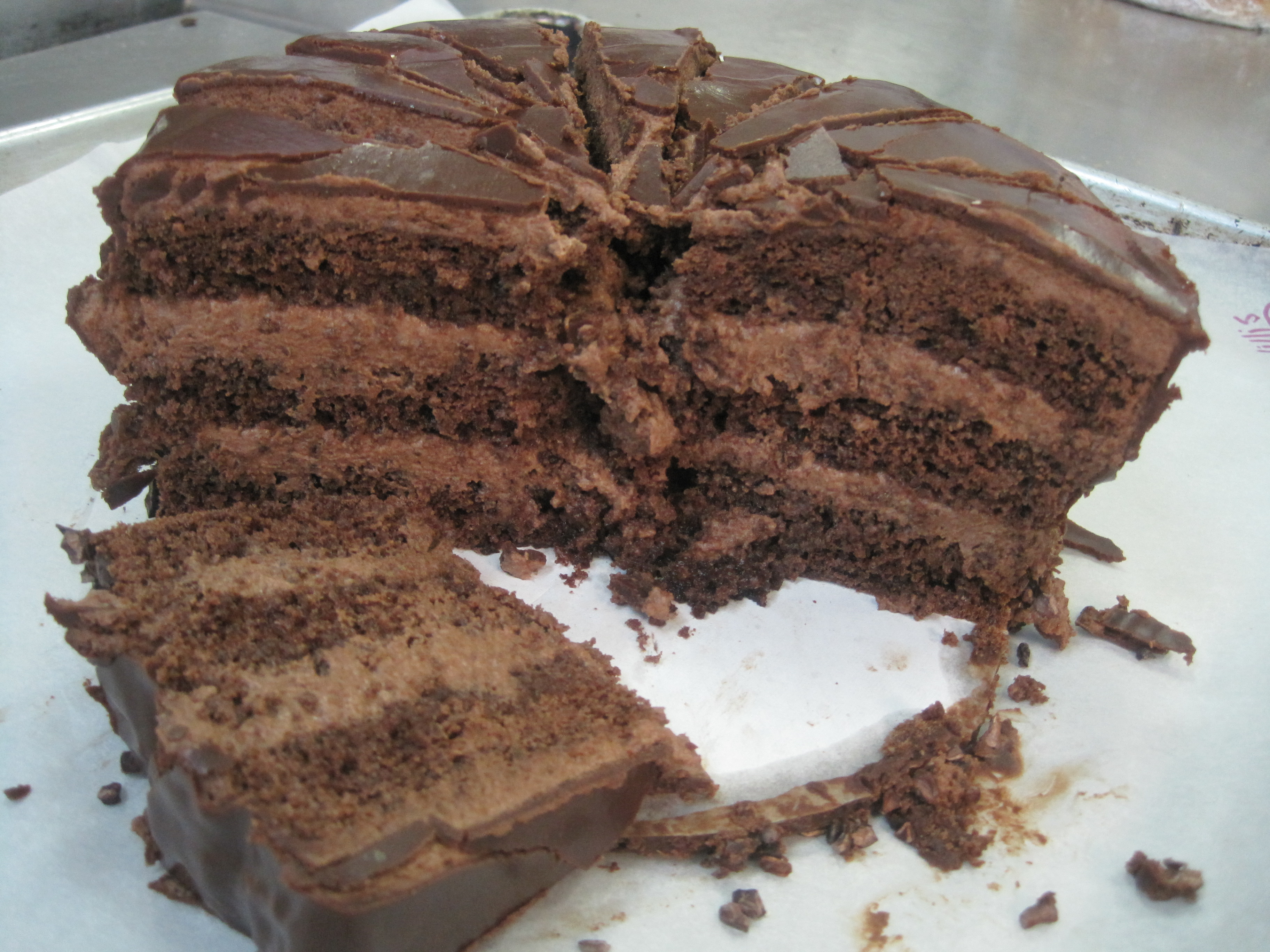 Chocolate Genoise Mousse Cake