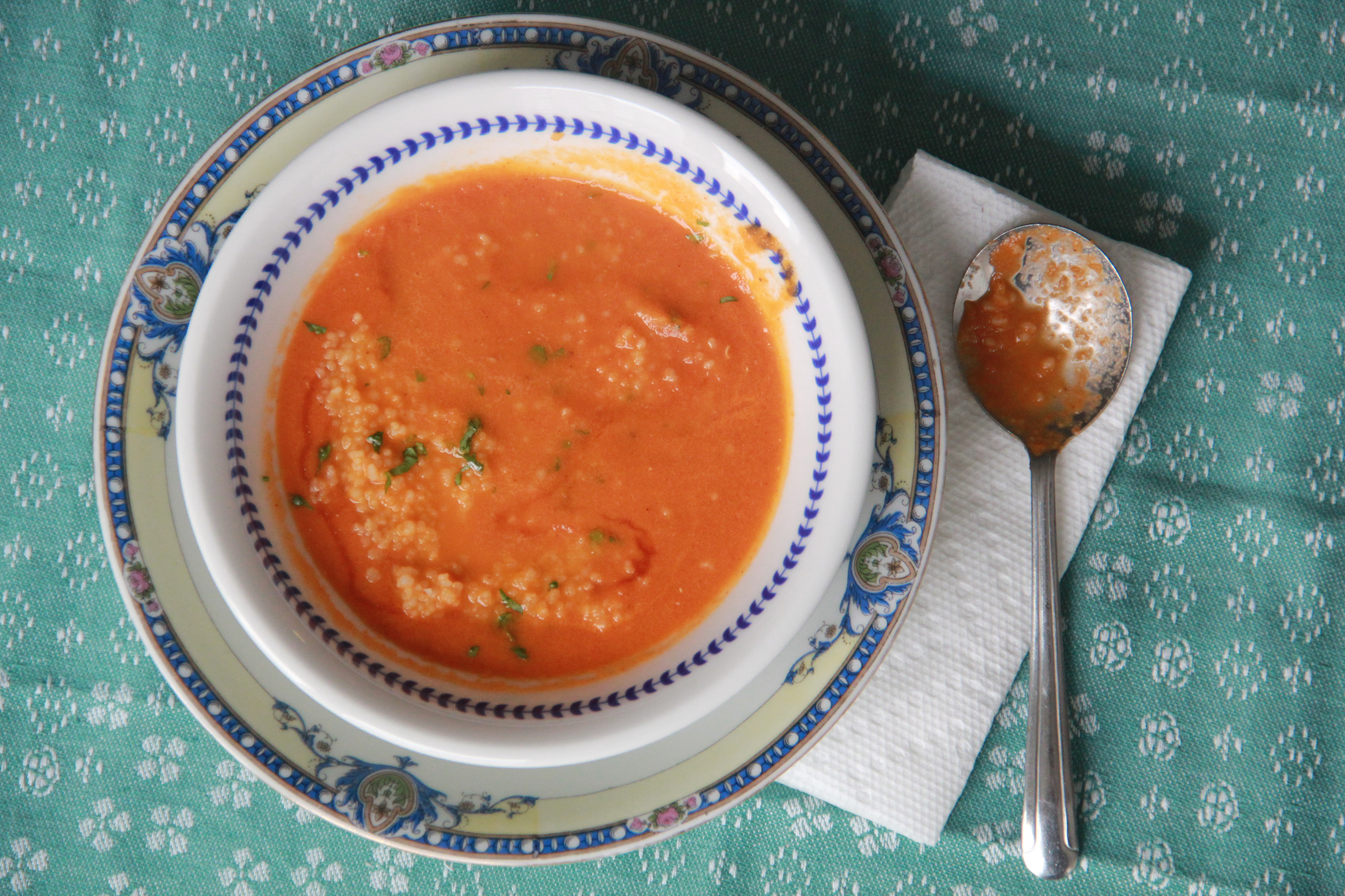 Moroccan Spiced Tomato Soup with Cous Cous » Dunk & Crumble
